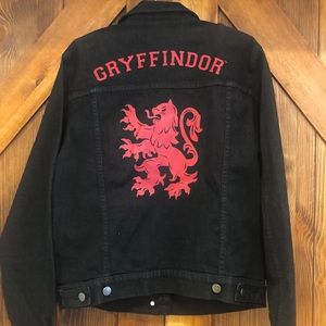 Harry Potter Gryffindor denim jean jacket